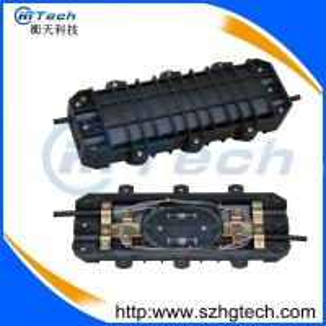 Quality 48Core inline Fiber Optic Enclosure 2In2Out, 48 Core Horizontal Type Fiber Optic Splice Closure for sale