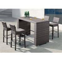 China Patio Bar Sets Outside Commercial Furniture with Plastic Timber Table on sale