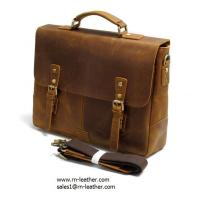 2017 manufacturer low price good quality italy crazy horse leather messenger