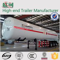 Quality Light  Weight Steel  LNG Semi Trailer With 3 BPW Axles and JOST Support Leg for sale