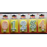 Buy Best-selling Number Candle unique Colorful polka dot number birthday candle With Multi-color edge at wholesale prices