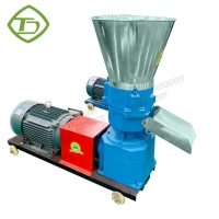 Quality Farm use flat die feed pellet machine for fish feed with wholesale price for sale