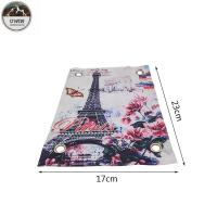 China Eiffel Tower Romantic Digital Printed Patches Art Work 23*17CM Size For Clothing on sale