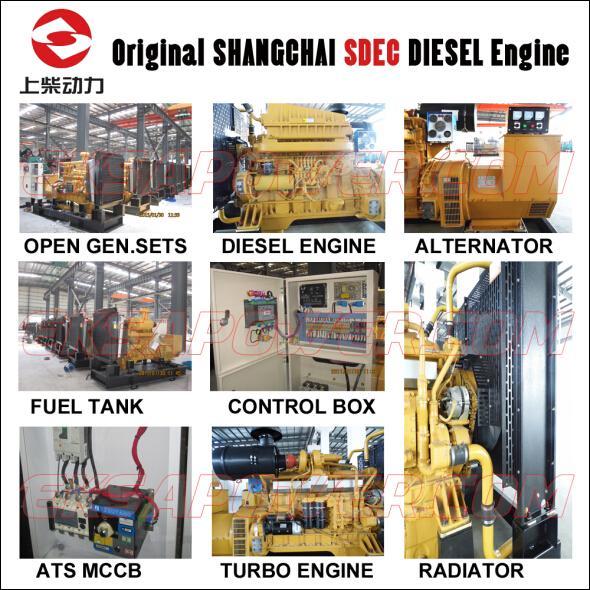 50KVA-537KVA Shangchai diesel generator sets for industrial power backup