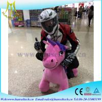 Quality Hansel  high quality coin operated animal scooters motorized bicycle electric toy dinosaur  for shopping mall for sale