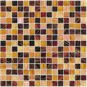 20X20mm gold line glass mosaic mix pattern square mosaic tile
