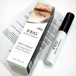 Quality FEG eyebrow growth serum/eyebrow growth enhancer 3ml/box transparent liquid for sale