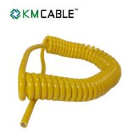 Quality Spring Coiled Electrical Cable , Retractable Coiled Electrical Cable for sale