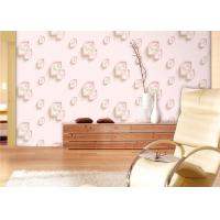 China Eco-Friendly Low Flammability Living Room Wallpaper , Interior Decorating Wallpaper wholesale