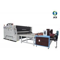 China 2 Colors Flexo Printing Corrugated Box Making Machine With Automatic Feeder on sale