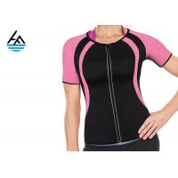 Quality Black Pink Fitness Neoprene Weight Loss Sauna Suit Absorbs Sweat Custom Size for sale