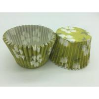 Quality Green White Flower Greaseproof Cupcake Liners Disposable Mini Baking Tools Cake Decoration for sale