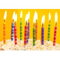 Quality Scheme Color Streak Striped Birthday Candles , Beautiful Custom Birthday Candles for sale