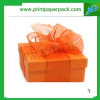 Quality Delicate Red Christmas Gift Paper Box with Bowknot Jewellery Packaging Box Necklace Box for sale