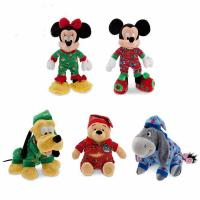 Quality Cute Sleepwear Disney Stuffed Toys Christmas Holiday Promotion Red Blue for sale