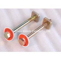 China Threaded Rod Brass Double Headed Bolt Fastener With Nuts Busbar Accessories on sale