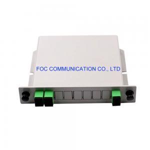 Quality SC APC 1×2 PLC Splitter 650nm Rack Mountable For PON CATV Networks for sale