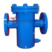 China Din Flanged Simplex Basket Strainer , Pn16 Fabricated Steel Bucket Type Strainer on sale