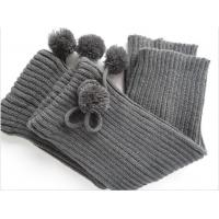 Quality OEM Grey 56N Acrylic + Spandex Knitted Leg / Arms Warmers Pattern For Women / Girls for sale