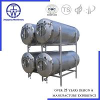Quality Horizontal Bright Beer Tank Polishing Below 0.4um CIP Rotation Ball PU Insulation for sale