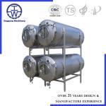 Quality Horizontal Bright Beer Tank Polishing Below 0.4um CIP Rotation Ball PU Insulation for sale