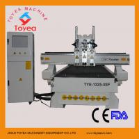 Quality Strong machine body 4x8 work table 3 spindles pneumatic tool changer wood cnc router TYE-1325-3SF for sale