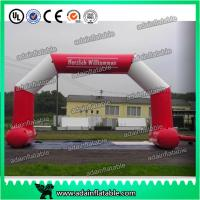 Quality White And Red 6 x 3M Inflatable Arch , Inflatable PVC Advertising Hotel Arch for sale