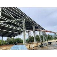 Quality High Builidings Stable Garage Steel Frame Q355B for Car Parking for sale