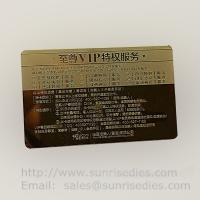 China Customized metal business cards print etched metal cards in mass production on sale