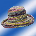 Quality Raffia Straw Crochet Hats 10/303 for sale