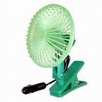 Quality Mini Car Fan with Cigarette Lighter Plug and Switch for sale