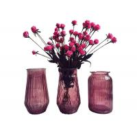 Quality Modern Decorative Glass Vases / Large Decorative Clear Glass Vases for sale