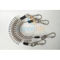 Quality Core Reinforced Coil Tool Lanyard 1.5 Meters With Stainless Steel Clips for sale