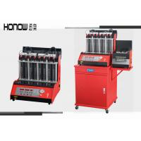 China Car Automatic Ultrasonic Fuel Injector Cleaning Machine 8 Cylinders 250W Power on sale