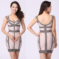 Quality Follow the fashion trend sexy woman floral printed short bodycon bandage dress for sale