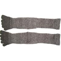Quality High Performance 24.5 cm 120 Needle Grey Cotton Five Finger Toe Terry Loop Socks For Winter for sale