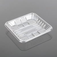 China OEM ODM Square Disposable 14*14*2cm Plastic Meat Packaging on sale