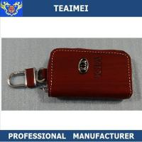 China Men / Ladies Personalized Leather Key Holder Pouch With Card Holders on sale