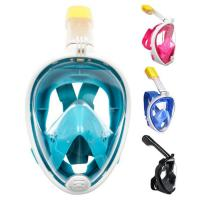 China Snorkel Mask, Lattcure 180 Full Face Diving Snorkeling Mask for Kids Adults Anti-Fog Anti-Leak EasyBreathe Detachable Go on sale