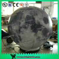 Quality 2m Customized Inflatable Moon Planet Decoration With LED Light for sale