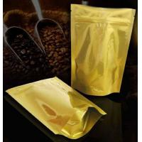 Quality heat seal and custom printing aluminum foil zip lock stand up bag with clear window, coffee packaging for sale
