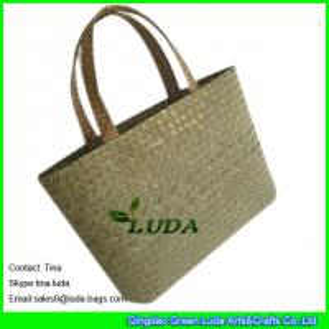 China LUDA wholesale designer fashion seagrass straw woven small handbags on sale