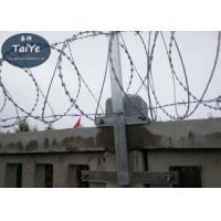 China High Zinc Coated Chain Link Fence Barbed Wire Arms  Firm Structure On Railway on sale