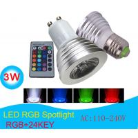 China 3W 16 Color Change LED Bulb Spotlight with IR Remote on sale