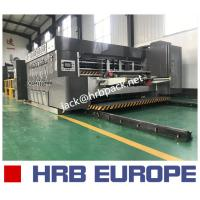 Quality HRB-1224 Flexo Folder Gluer Lead Edge Feeder Printer Slotter Die Cutter Machine Gluer Inline for sale