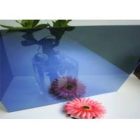 Quality Flat Shape Dark Blue Reflective Glass , Reflective Tempered Glass Sample Available for sale