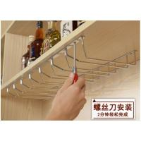 Quality Wall Mountd Metal Kitchen Accessories Easy To Install With Glass Hanger for sale