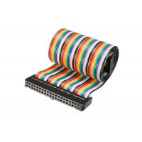 Quality IDC Rainbow 40 Pins Connector Flat Ribbon Cable for sale