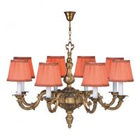 Quality Italian brass chandeliers 8/12 Lights with Lampshade for indoor home lighting (WH-PC-25) for sale