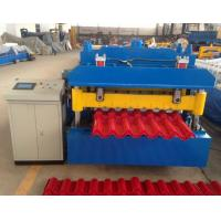 Buy Steel Step Tile Making Machinery / Glazed Tile Cold Rolled Forming Machine at wholesale prices